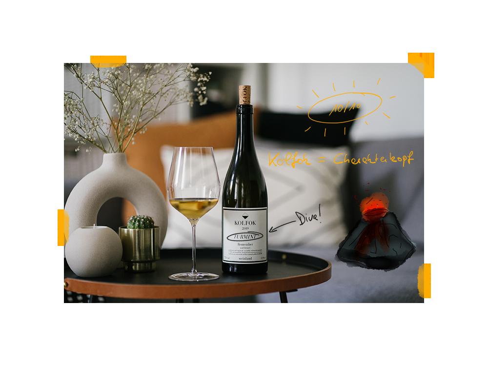 Flasche Furmint von Kolfok, dem Weingut von Stefan Wellanschitz.
