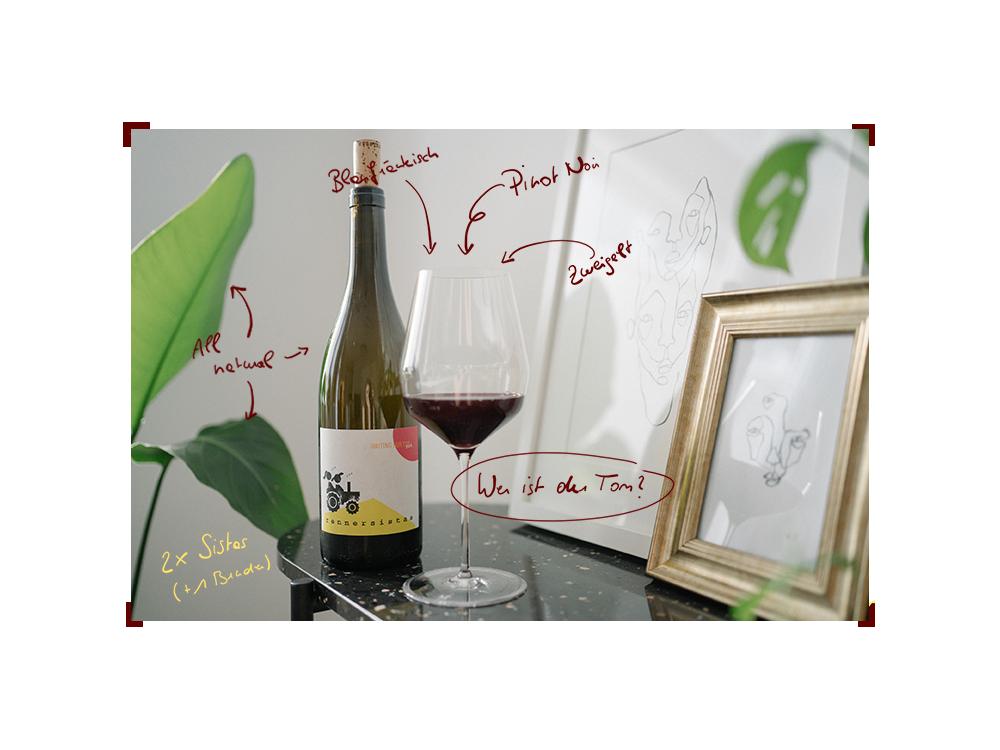 Grafik mit dem Wein der rennersistas Waiting for Tom 2018.